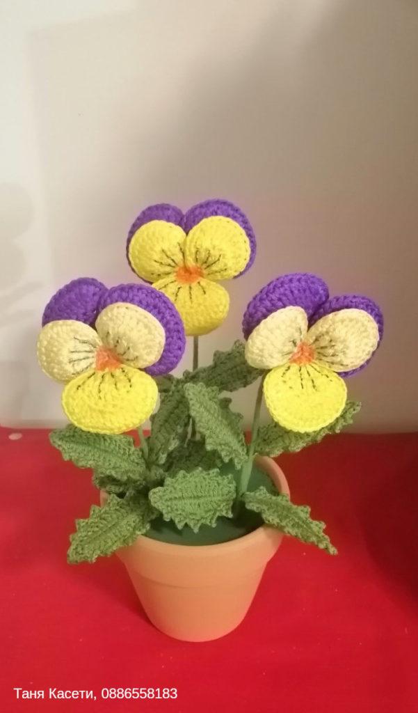 Изработка на плетени детски играчки и цветя