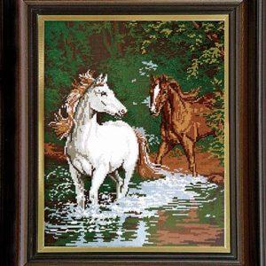 Гоблен Коне в реката, Horses in the River Tapestry
