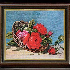 Гоблен Рози в панер, Roses in a Basket Gobelin Tapestry