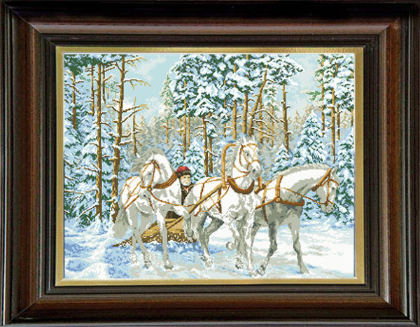 Гоблен Руска тройка, Russian Troika Tapestry