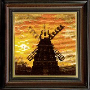 Гоблен Вечерна мелница, Windmill at Night Gobelin Tapestry