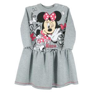 """Детска рокля """"Мини Маус"""", Сива с копчета на рамото"""