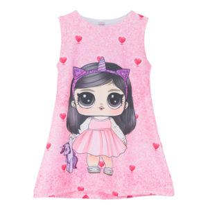 "Детска рокля ""Момиче в розово, с Туайуаит Спаркъл"""