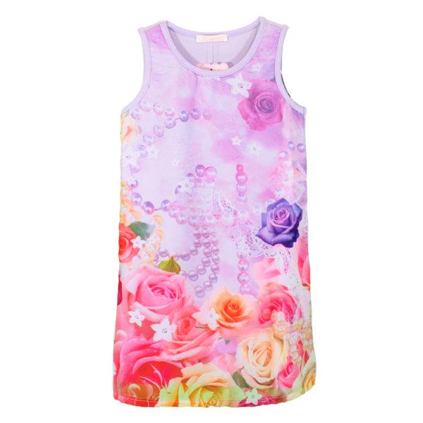"Детска рокля ""Рози и перли"""