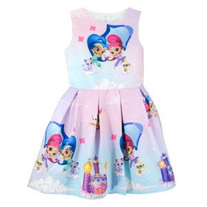 """Детска рокля """"Искрица и Сияйница"""", без ръкав"""