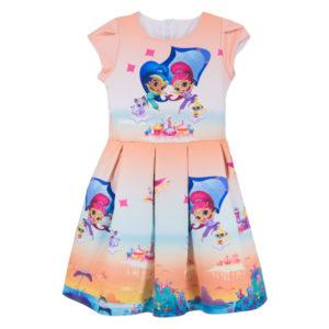"""Детска рокля """"Искрица и Сияйница"""", къс ръкав"""