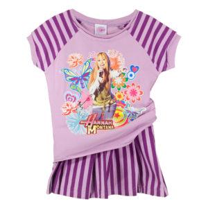 """Детски комплект блуза и пола, """"Хана Монтана"""", лилаво рае"""