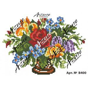 Щампиран гоблен Цветя във ваза, Flowers in a vase printed tapestry, B400