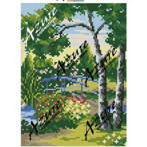 Щампиран гоблен Мост в гората, Bridge in the Forest printed tapestry, C324
