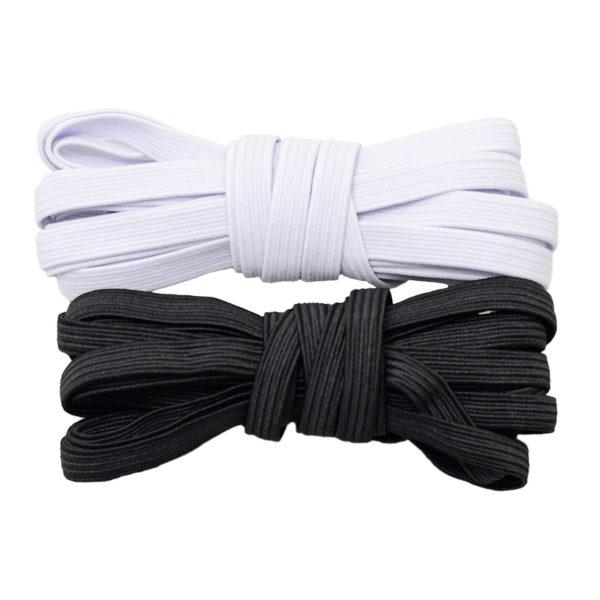 """Висококачествен български плосък ластик, с ширина 6 мм., за поправка на всякакви дрехи (""""ластик за гащи"""")."""