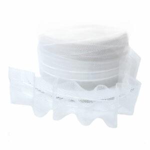 Ширит (перделик, перделък), силиконов, за пердета и завеси, с ширина 2.5 см., с две нишки за изтегляне, подходящ за всички видове пердета.