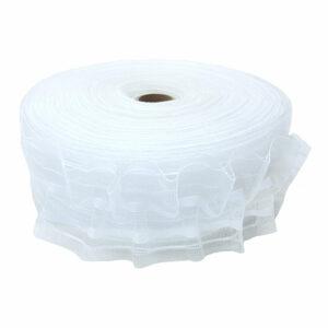 Ширит (перделик, перделък), силиконов, за пердета и завеси, с ширина 6 см., с две нишки за изтегляне, подходящ за всички видове пердета.