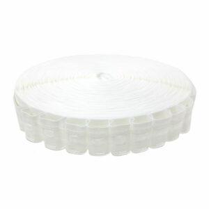 Ширит (перделик, перделък), текстилен, за пердета и завеси, с ширина 2.5 см., с две нишки за изтегляне, подходящ за всички видове пердета.