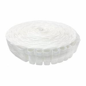 Ширит (перделик, перделък), текстилен, за пердета и завеси, с ширина 4 см., с две нишки за изтегляне, подходящ за всички видове пердета.