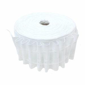 Ширит (перделик, перделък), текстилен, за пердета и завеси, с ширина 6 см., с две нишки за изтегляне, подходящ за всички видове пердета.